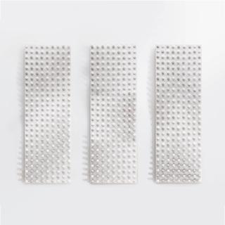 Drei Tafeln, 2004, Flaschenkork, Acryllack auf Leinwand