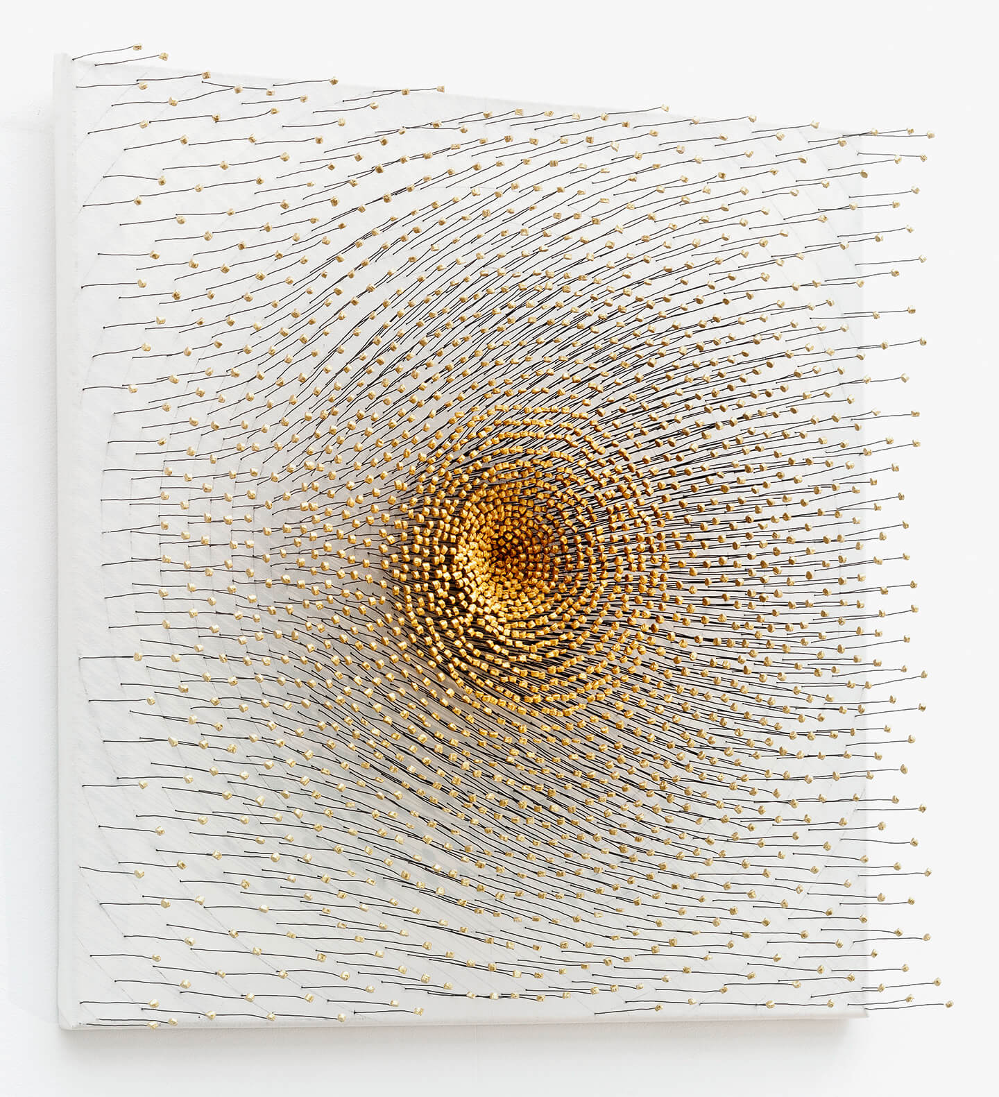 Soul, 2014, bottle corks, wire, acrylic paint on canvas